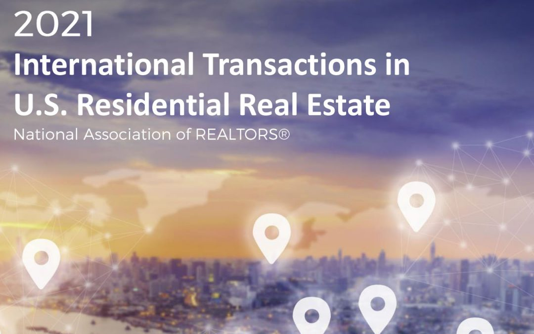 Foreign Buyers? The Latest Report . . .